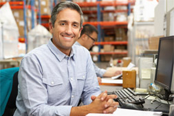Man at warehouse