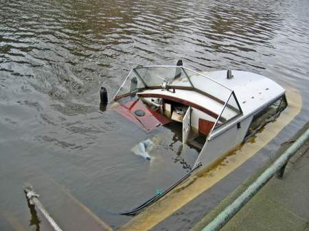 boat under water