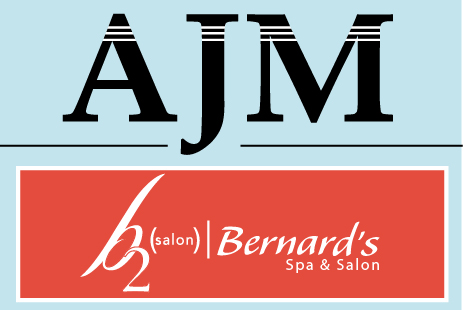 image of ajm logo with feature client of the month bernards spa