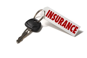 car key with insurance tag on it