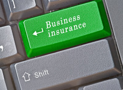 image of computer key saying business insurance