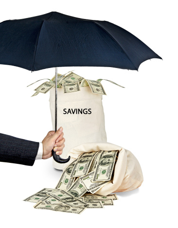 umbrella protecting savings