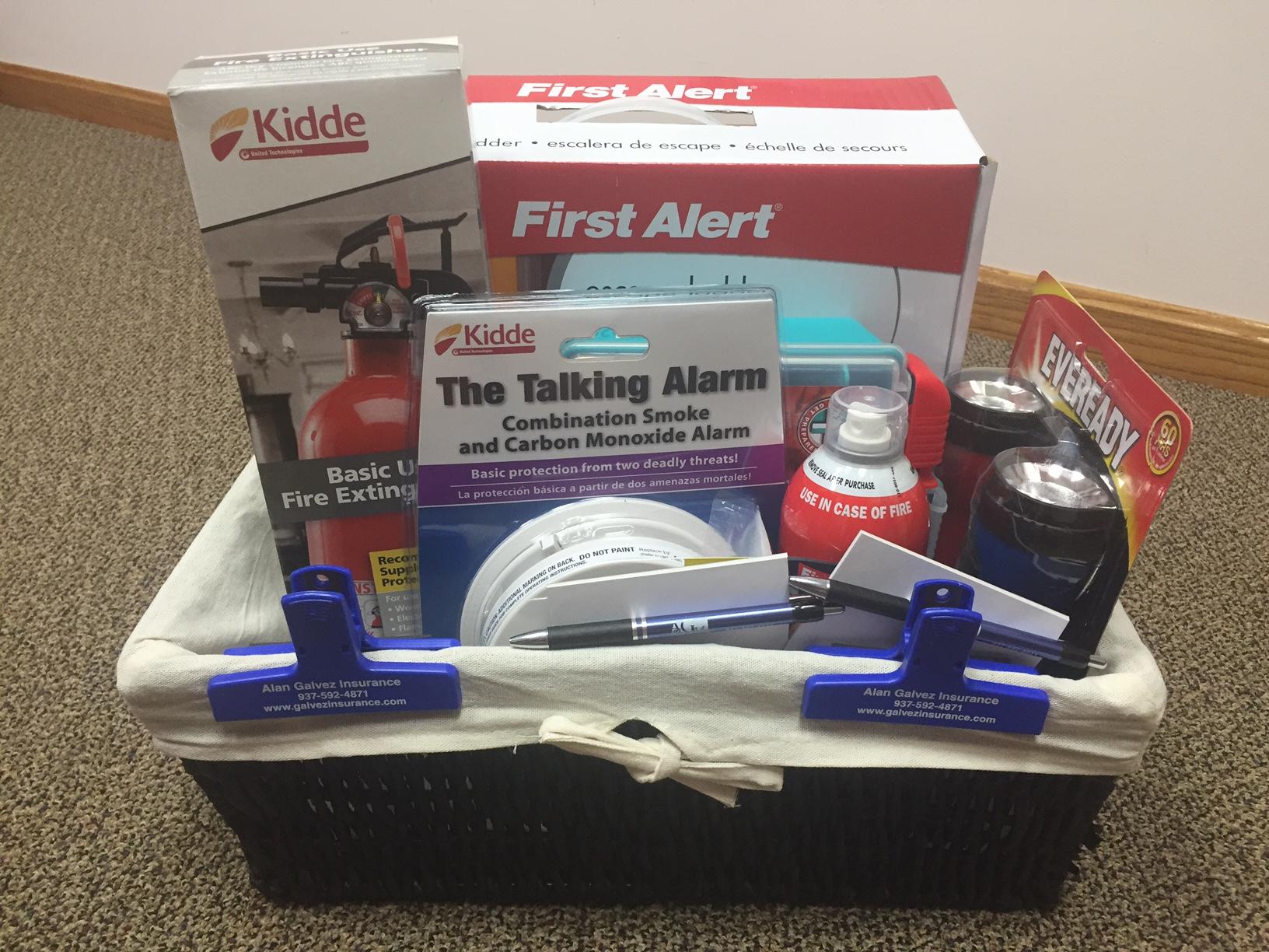 Bellefontaine Community Safety Event- Home Safety basket- Alan Galvez Insurance