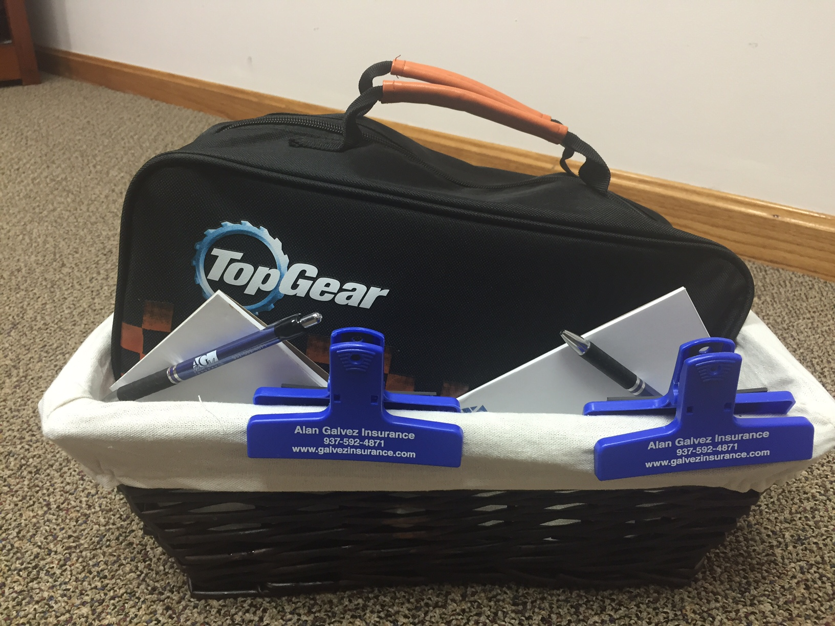 Bellefontaine Community Safety Event- Top Gear Car Roadside Assistance kit- Alan Galvez Insurance
