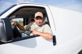 Man in Utility Truck