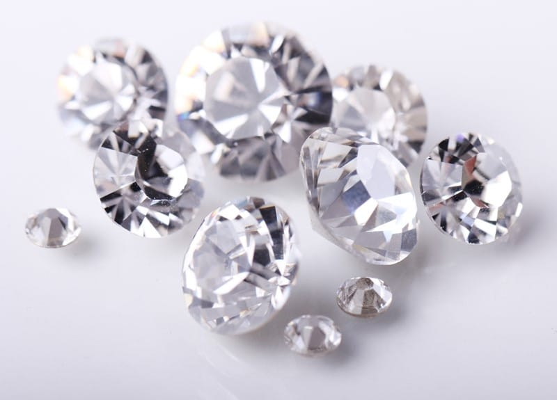 diamonds on a white background