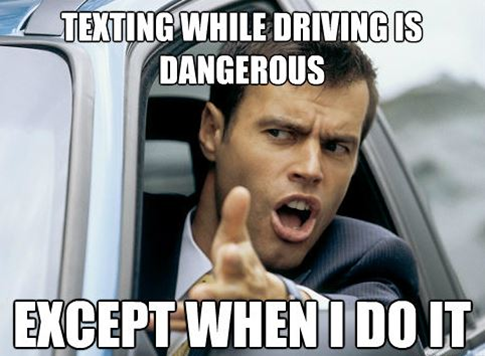 texting and driving meme image