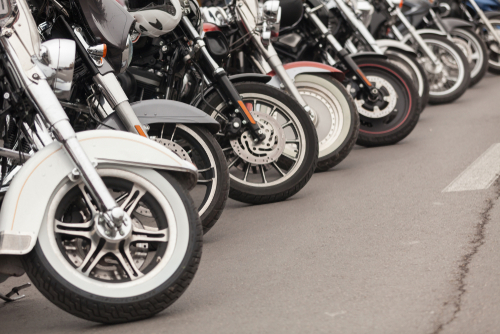 line of cruiser style motorcycles