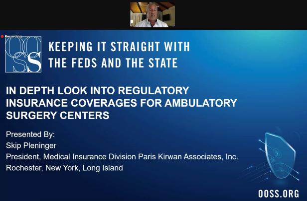 Screenshot of Skip presenting at OOSS webinar