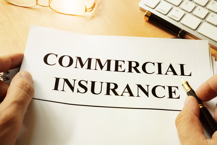 Banner that says commercial insurance