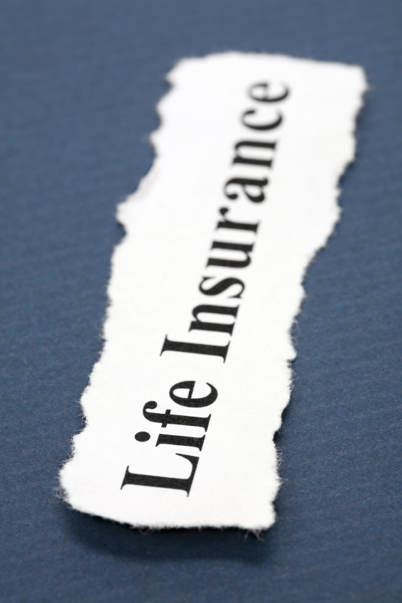 paper with life insurance text