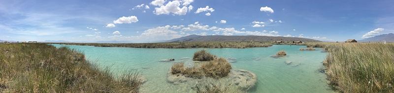 Pozas lake landscape