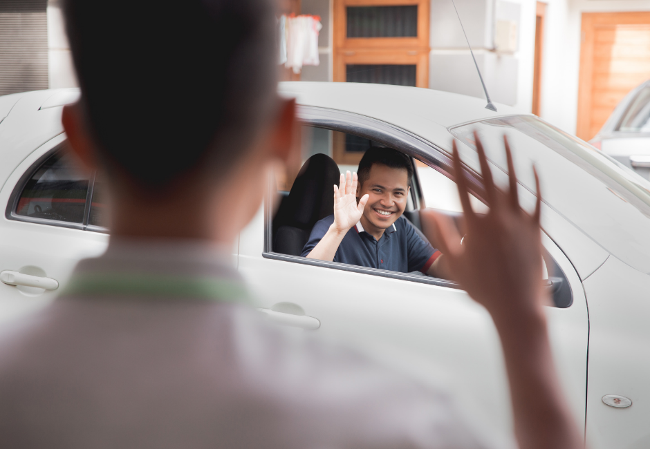 Delivery driver or uber driver