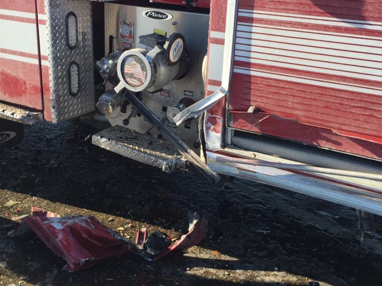 Hit Fire Truck