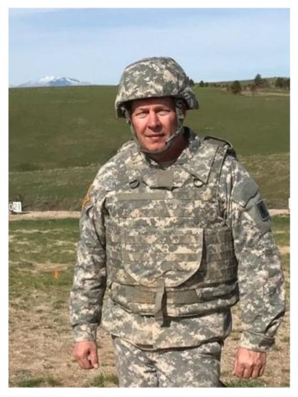 Kerry Wyatt In National Guard Uniform