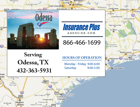 Insurance Plus Agencies (432) 363-5931 is your local Commercial Auto Insurance agent in Odessa, TX.