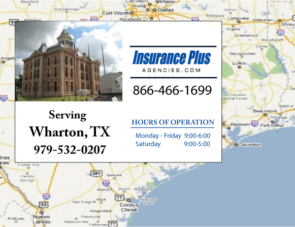 Insurance Plus Agencies of Texas (979)532-0207 is your Event Liability Insurance Agent in Wharton, Texas.